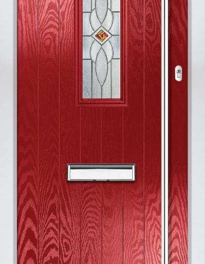 Cottage 1 Shown With Daventry Glass & 1800 mm Round Stainess Steel Handle