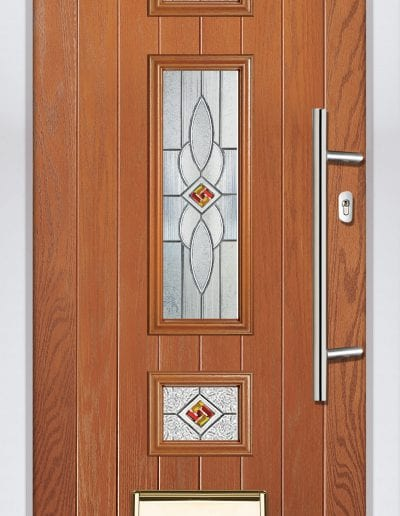Jacobean Shown With Daventry Glass & 600 mm Offset Round Stainless Steel Handle