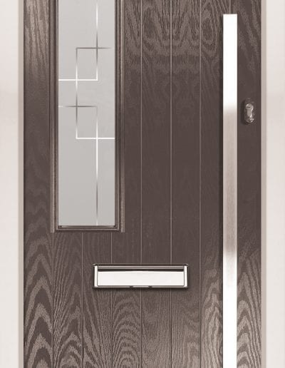 Modern 1 Left Shown With Deco Glass & 1500mm Rectangular Stainless Steel Handle