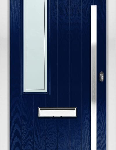 Modern 1 Left Shown With Edge Glass & 1500mm Rectangular Stainless Steel Handle