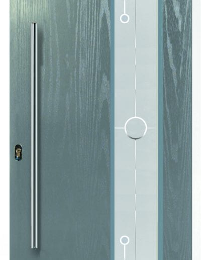 Modern 1 Long Right Shown With Deco Glass & 1200mm Round Stainless Steel Handle