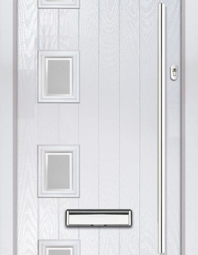 Modern 4 Left Shown With Glacier Glass & 1200 mm Round Stainless Steel Handle