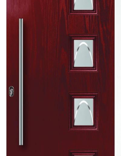 Modern 4 Right Shown With Crescent Glass & 900 mm Round Stainless Steel Handle