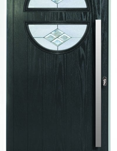 Twin Moon Horizontal Shown With Eclipse Glass & 900mm Round Stainess Steel Handle