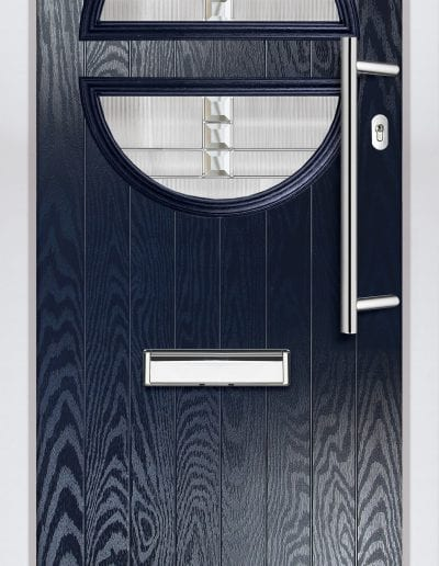 Twin Moon Horizontal Shown With Milan Glass & 600 mm Offset Round Stainess Steel Handle
