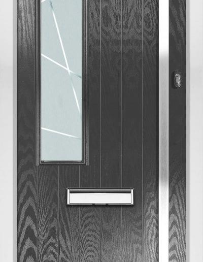 Stuart Left Ant Grey Shown With Matrix Glass 1500mm Rectangular Handle